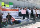Trabajadores de la salud marchan en Chiapas para exigir el pago de bonos y prestaciones laborales