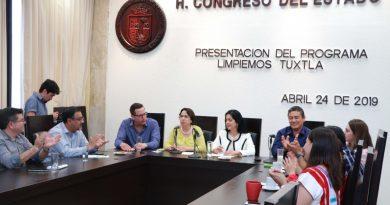 """Congreso del Estado se suma al programa: """"Limpiemos Tuxtla"""""""